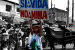 """Demonstration in  Ibagué - Tolima. June 2013. The sign reads: """"Yes to Life, No t"""